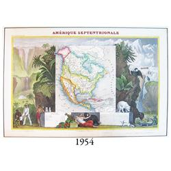 "Circa-1845 French map of North and Central America entitled ""Amérique Septentrionale"" by Raimond Bon"
