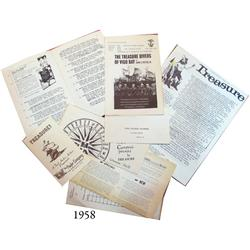 Lot of 5 Foul Anchor Archives (Robert Nesmith) catalogs (and associated material) of the 1950s and 1