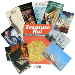 Lot of various brochures (4) and postcards (4) about Mel Fisher and his treasure museums, plus a fly