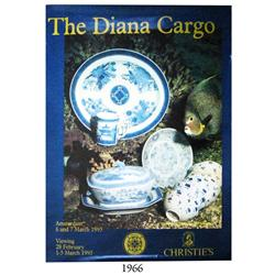 "1995 large Christie's (Amsterdam) poster for their auction ""The Diana Cargo"" of March 6-7 of that ye"