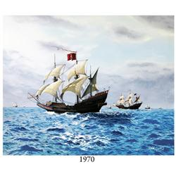 "1715 Fleet painting: ""The Day Before,"" by Ralph Curnow (2009)."