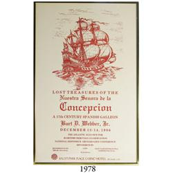 "Framed poster for ""Lost Treasures of the Nuestra Senora de la Concepcion"" exhibition by Burt D. Webb"
