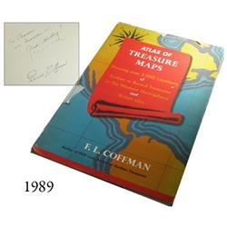 Coffman, F.E. Atlas of Treasure Maps (1957 reprint), with inscription and rubber-stamp signature by