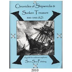 Riebe, Alan. Chronicles of Shipwrecks & Sunken Treasure, 900-1900 A.D. (undated, 2002?), autographed