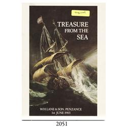 Lane & Son (Penzance), Treasure from the Sea (June 1, 1983), signed by Rex Cowan (salvager featured