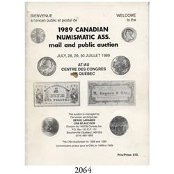 Serge Laramee (Quebec). 1989 Canadian Numismatic Assn. Auction (July 28-30, 1989).