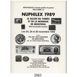 Serge Laramee (Quebec). Nuphilex 1989 Auction (November 24-26, 1989).