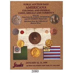 Stack's (New York). Americana Sale (January 12-13, 1999), with Prices Realized.