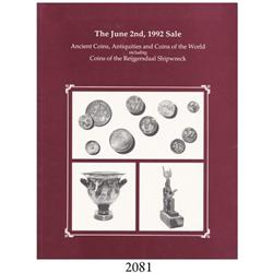 Superior Galleries (Beverly Hills, CA). The June 2nd, 1992 Sale--Ancient Coins, Antiquities and Coin