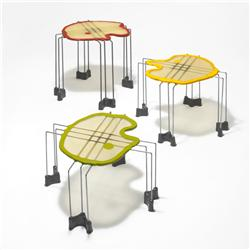 Gaetano Pesce Triple Play nesting tables, set of three