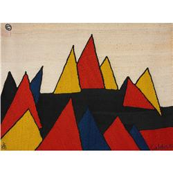 After Alexander Calder Pyramid tapestry