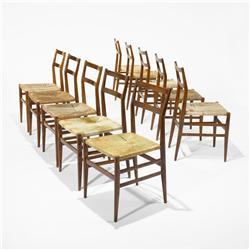 Gio Ponti Leggera chairs, set of ten