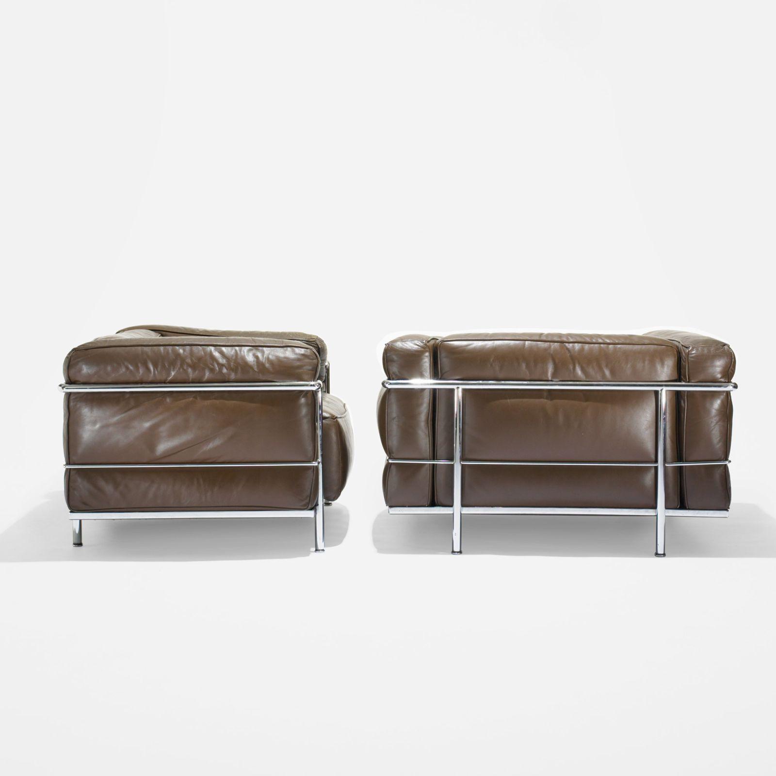 Terrific Pierre Jeanneret Charlotte Perriand And Le Corbusier Grand Comfort Lounge Chairs Pair Inzonedesignstudio Interior Chair Design Inzonedesignstudiocom