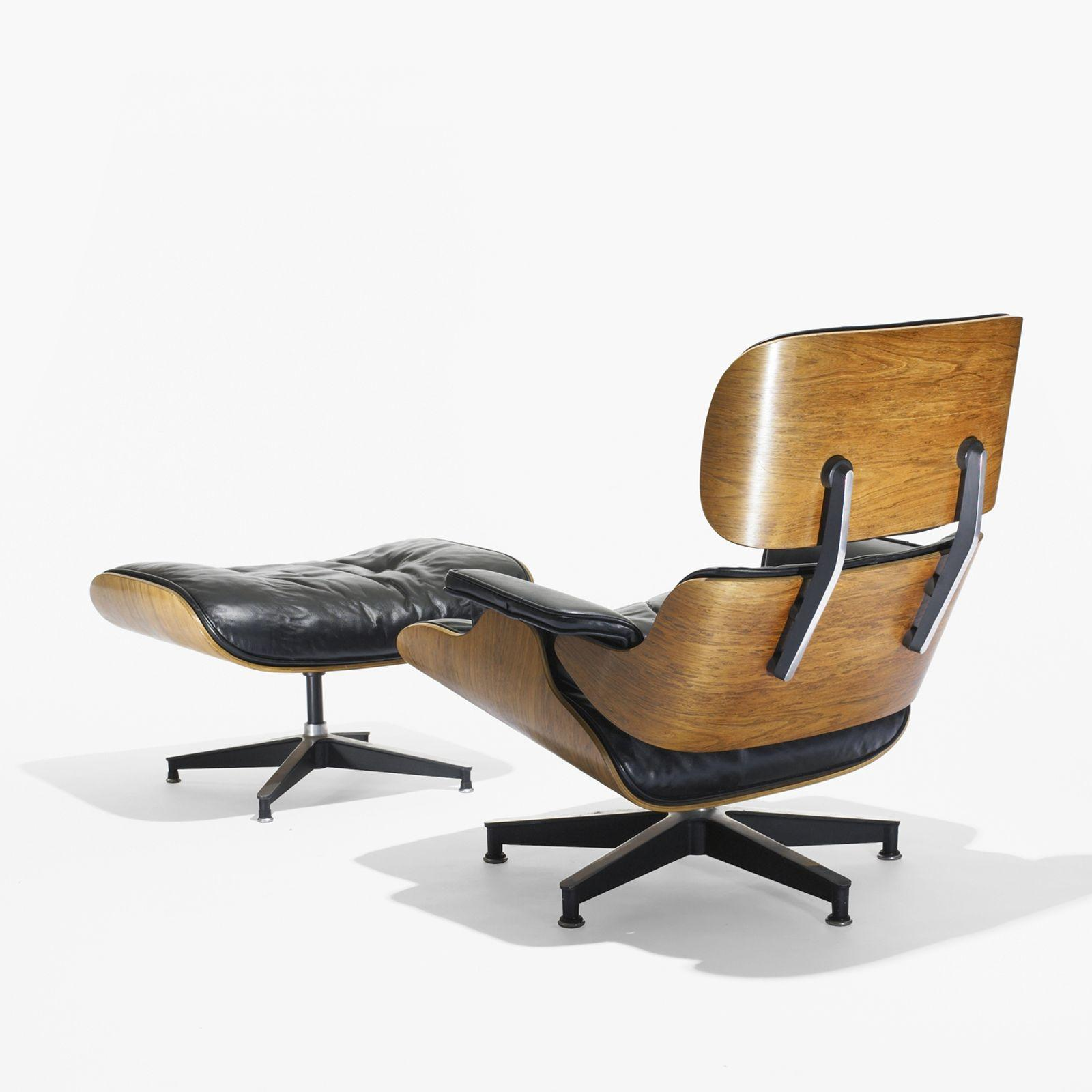 Image 1 : Charles And Ray Eames 670 Lounge Chair And 671 Ottoman ...