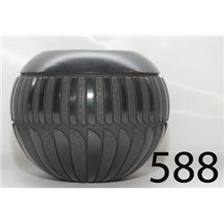 SAN JUAN/SANTA CLARA POTTERY JAR