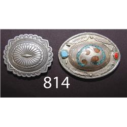 TWO NAVAJO BUCKLES