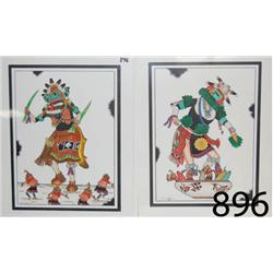 TWO HOPI PAINTINGS