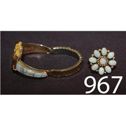 NAVAJO WATCH AND RING