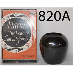 SAN ILDEFONSO POTTERY JAR AND BOOK