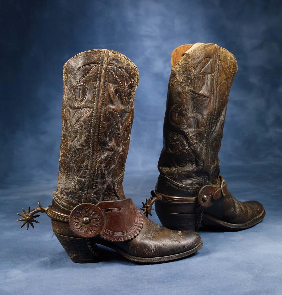885e7279b4c 1920s Cowboy boots with Buermann Spurs