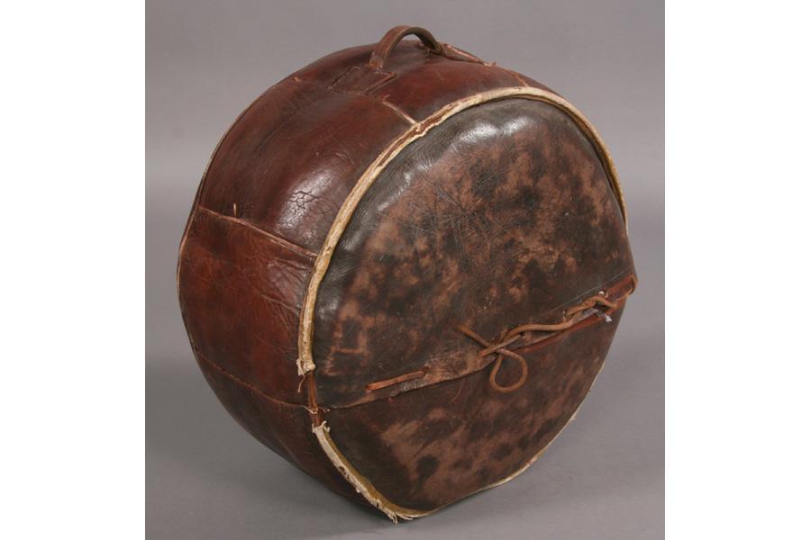 Superb Vintage Round Leather Ottoman Beatyapartments Chair Design Images Beatyapartmentscom