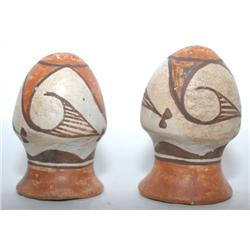 ACOMA POTTERY SALT & PEPPER SHAKERS