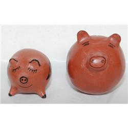TWO MARICOPA POTTERY PIGS