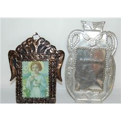 TWO MEXICAN TIN FRAMES