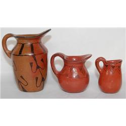 THREE MARICOPA POTTERY PITCHES