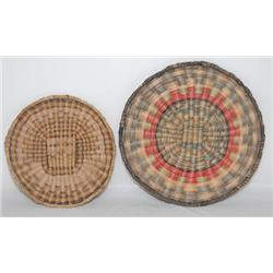 TWO HOPI BASKETY PLAQUES