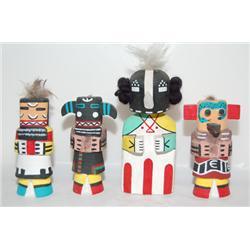 FOUR RT. 66 HOPI KACHINA DOLLS