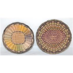 TWO HOPI BASKETRY PLAQUES