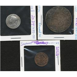 Lot of three England ancient pieces