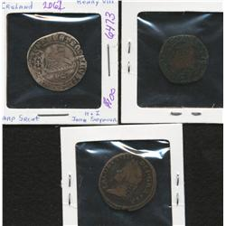 Lot of Three Ireland Coins