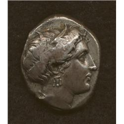 Knossos, c. 300-300 BC, stater, AR, Demeter/Labyrinth