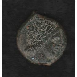 Syracuse, 288-279 BC, Hiketos, AE, Zeus/Eagle on thunderbolt