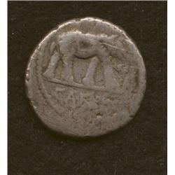 Julius Caesar, 49-48 BC, denarius, AR, Elephant/votive implements