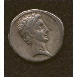 Octavian (later Augustus) 27-14 BC, denarius, AR, obv., head of Octavian