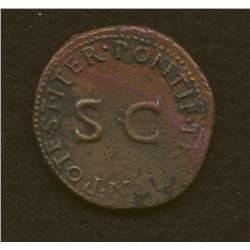 Drusus (son of Tiberius), As, AE, bust of Drusus/SC