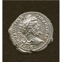 Septimius Severus, 193-211, denarius, AR, laur. bust/Victory