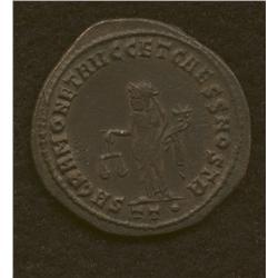 Diocletian, 284-305 AD, follis, Bi, laur. head/Moneta stdg