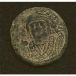 Maurice Tiberius, 582-602, follis, AE, Alexandria mint, facing bust/M