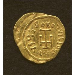 Constantine IV, 668-685, tremissis, AV, Constantinople mint, bust/cross