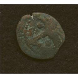 Macus Ambibulos, 12-15 AD, prutah, AE, barley ear/palm tree
