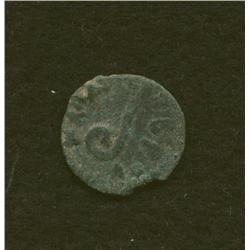 Pontius Pilate, 29-30 AD, prutah, AE, lituus/date in wreath