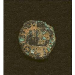 Pontius Pilate, 29-30 AD, prutah, AE, simpulum/ears of barley