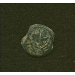 Jewish Revolt, c. 69 AD, ½ shekel, AE, chalice/3 pomegranates