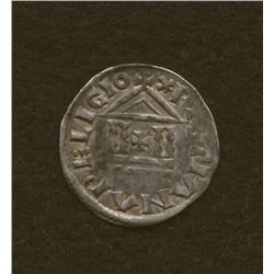 Louis the Pius, 814-840, denier, AR, cross/temple