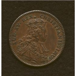 Louis XIII, 1641,  AE medallion, anointing at coronation