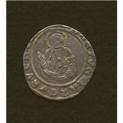 Dux Francis Foscari, 1423-1457, grossone, AR, duke stdg./St. Mark stdg.